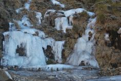 frozen waterfall at #sanipass #lesotho | #southafrica