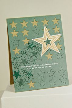Let Your Light Shine Card by Erin Lincoln for Papertrey Ink (April 2014)