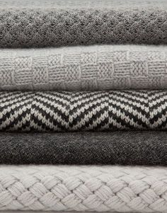The textures and patterns in these blankets look so nice! Perfect for a cozy winter!: