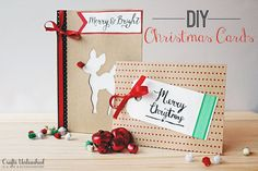 DIY Christmas Cards: Merry & Bright - Crafts Unleashed (a Silhouette project)