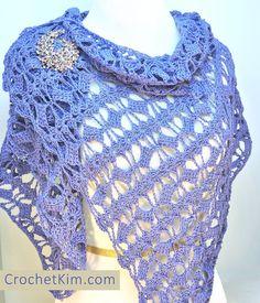 Butterfly Fling Wrap By Kim Guzman - Free Crochet Pattern - (ravelry)