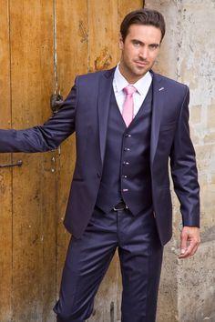 Hommes//garçons slim skinny shiny satin mariage travail//cravate-bleu royal