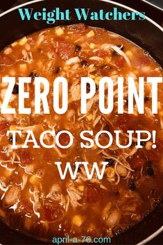 When you need something filling, flavor… Weight Watchers WW Zero Point Taco Soup. When you need something filling, flavorful and free on the WW freestyle program, then this is the perfect meal! Weight Watcher Dinners, Weight Watchers Desserts, Weight Watcher Taco Soup, Plats Weight Watchers, Weight Watchers Meal Plans, Weigh Watchers, Weight Watchers Smart Points, Weight Watchers Diet, Weight Watchers Chicken