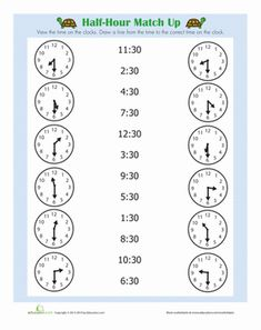 First Grade Time Worksheets: Quarter Hour Practice telling time with this match up worksheet! Kids will work on telling time to the quarter hour. 2nd Grade Math Worksheets, School Worksheets, 1st Grade Math, Worksheets For Kids, Alphabet Worksheets, Second Grade, Teaching Time, Teaching Math, Telling Time Activities