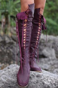 Bohemian Leatherette Moccasin Boots