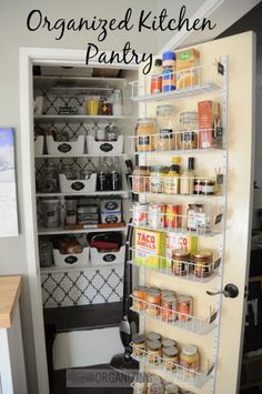 Organized Kitchen pantry :: OrganizingMadeFun.com