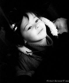 The eyes of a child  Montréal, Québec  Photo by Richard Guimond © 1974 19740101 003 (3) f Nikon F 135mm f3.5 Tri-X D-76