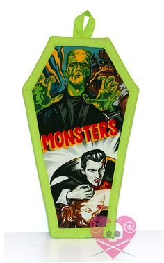 Monster Mash Coffin Pot Holder by XO by XOSkeletonCreations, $19.99