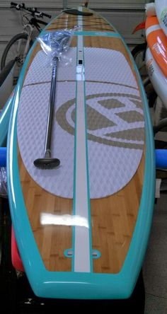 BOGA El Ray in Bamboo/Caribbean w/ new Kialoa Insanity paddle Im in love. Seriously neeeeeed this in my life Paddle Board Surfing, Sup Stand Up Paddle, Kayak Paddle, Standup Paddle Board, Paddle Boarding, Sup Boards, Sup Yoga, Sup Surf, Kayak Camping