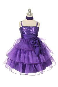 #FlowerGirlDresses - Flower Girl Dress Style 226 - Beautiful Organza Layered and Sequin Detailed Dress