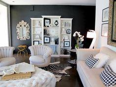 Wonderful #Interior Design Haus 2018 Gemalte Schwarze Wände Im Wohnzimmer Ideen Und  Ratschläge #Modell #Dekoration #Designers #Farbe #design #Living Room  #Dekor ... Amazing Design