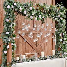 Outdoor Wedding Decorations, Rustic Wedding Backdrops, Rustic Bohemian Wedding, Natural Wedding Decor, Backyard Wedding Lighting, Rustic Weddings, Small Backyard Weddings, Wedding Fireplace Decorations, Diy Wedding Tent