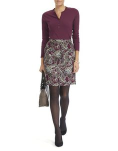 Paisley Print Pocket Skirt