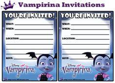 Printable Invitations from the Free Disney Junior Vampirina Printable Party Kit Birthday Party Invitations Free, Printable Invitations, Party Printables, 6th Birthday Parties, Third Birthday, Birthday Ideas, Party Kit, Diy Party, Disney Junior