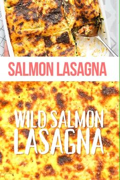 Finally a homemade lasagna recipe for seafood lovers! This seafood lasagna using canned salmon is rich, delicious and totally crowd-pleasing Homemade Lasagna Recipes, Lasagna Recipe Videos, Seafood Lasagna Recipes, Lasagne Recipes, Pasta Recipes, Canned Salmon Recipes, Healthy Salmon Recipes, Broccoli Recipes, Seafood Slow Cooker Recipe