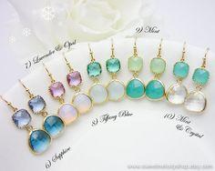 10+OFF+SET+of+4+Drop+Dangle+Earrings+Bridesmaid+by+SweetMelodyShop,+$93.60