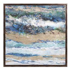 Seaside Waves Framed Canvas Print