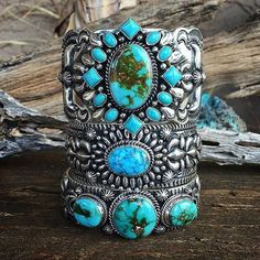 Power Cuff stack of Turquoise by @sunfacetraders