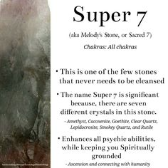 Super 7 (Melodys stone, Sacred 7) crystal meaning