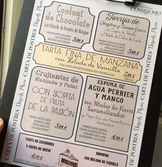 Menu dessert - carta de postres El Consistorio #restaurante #fuengirola
