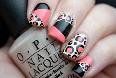 Nails by Kayla Shevonne: Leopard Print Colour Blocking Nails
