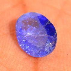 100% Natural Violet Blue Tanzanite Oval Diamond Cut Loose Gemstone 8*6*3mm #Diamondforgood