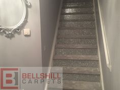 Glitter Stairs with Luxurious Glitter Carpet Wall Carpet, Diy Carpet, Carpet Stairs, Bedroom Carpet, Textured Carpet, Beige Carpet, Patterned Carpet, Glitter Floor