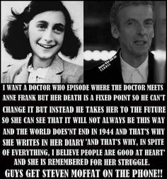 An idea for an episode with Anne Frank and Doctor Who