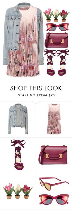 """Fringe Dress"" by bmaroso ❤ liked on Polyvore featuring rag & bone, Alexis, Steve Madden, Sophie Hulme, Cole Haan, Pink, fringe, young and DenimStyle"