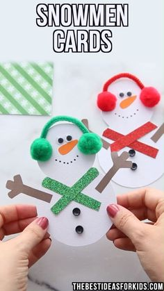 Snowman cards for Christmas - such a cute Snowman Christmas card - kids can easily make these with the free printable template. Snowman cards for Christmas - such a cute Snowman Christmas card - kids can easily make these with the free printable template. Kids Crafts, Christmas Crafts For Kids, Christmas Activities, Christmas Snowman, Handmade Christmas, Christmas Diy, Snowman Wreath, Diy Snowman, Snowman Ornaments