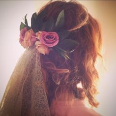 #diy #wedding #headband #weddinghair #flowers #flowercrown