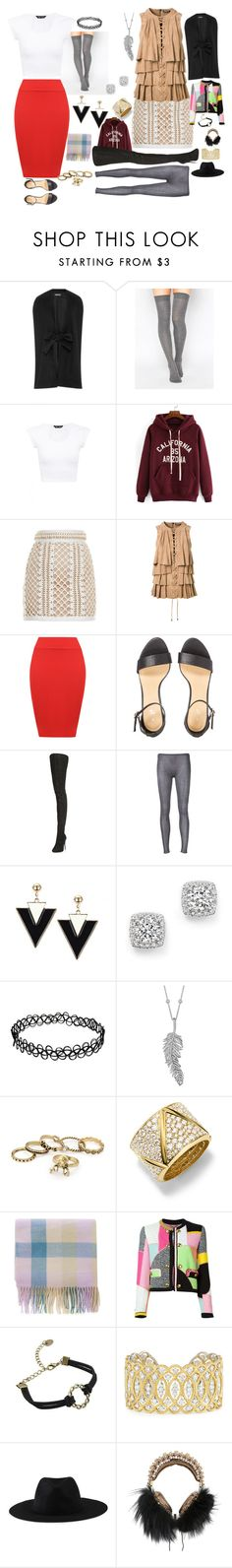 """""""Price check"""" by amanda-anda-panda ❤ liked on Polyvore featuring ASOS, Balmain, WearAll, Maison Margiela, Label Under Construction, Bloomingdale's, Penny Preville, Marina B, Moschino and Buccellati"""
