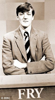 Stephen Fry, as he first appeared on British television as a contestant on University Challenge