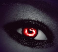 Black Lined Demon Red Eye