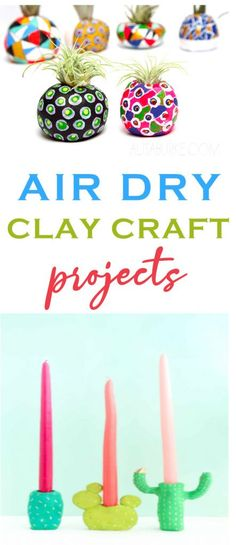 We just love working with clay, but let's face it. Most of us don't have access to a kiln. So, we've rounded up some great air dry clay craft projects that we adore and we wanted to share them with you too. #DIY #crafts #craftprojects #teencrafts #kidscrafts Cool Gifts For Teens, Birthday Gifts For Teens, Diy For Teens, Diy Projects For Teens, Crafts For Teens, Fun Projects, Diy Clay, Clay Crafts