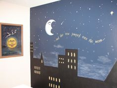 baby rooms with cow jumped over the moon theme | My first baby room! The cow jumped over the moon wall mural!