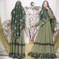 Asyiah Syari by Kanaya Hijab Fashion, Kimono Top, Dress