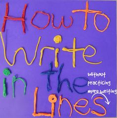 Learn easy ways how to keep handwriting on the lines by developing visual perceptual, visual motor, and fine motor skills