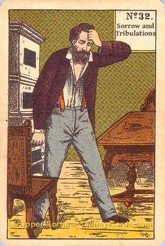 Sorrow and tribulations - Kipper Tarot cards