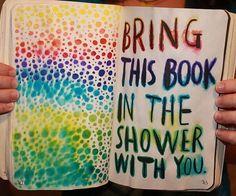 Använd vattenfärgspennor