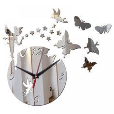 Acrylic Mirror Sale Wall Clock Clocks Quartz Watch Horloge Reloj De Pared Modern Design Living Room Still Life Duvar Saati Wall Clock Price, Mirror Wall Clock, Clock Art, Diy Mirror, Wall Clocks, Room Stickers, Mirror Stickers, Diy 2019, Stickers