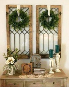 Small Entryway and Foyer Decorating Ideas On a Budget – Foyer decorating inspiration and entryway decor ideas! Let's take a look at some small entryway ideas for the foyer in … Diy Home Decor Rustic, Cheap Home Decor, Farmhouse Decor, Modern Farmhouse, Farmhouse Design, Antique Farmhouse, Modern Decor, Antique Cupboard, Farmhouse Kitchens
