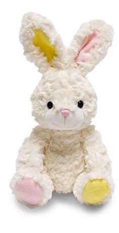 Cuddle Barn 9 Hoppy Floppies Super Soft Cream Bunny Stuffed Animal