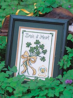 Irish at Heart free cross-stitch pattern of the day from freepatterns.com 9/13/13