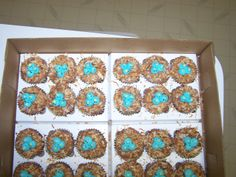 Baby birdie cupcakes I made for a baby shower