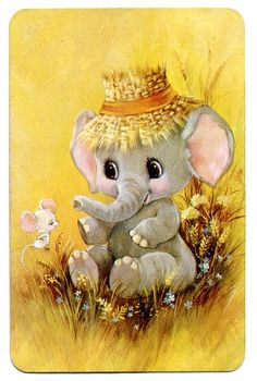 Photo Elephant, Elephant Love, Elephant Art, Elephant Nursery, Cute Animal Illustration, Cute Animal Drawings, Cute Drawings, Baby Animals, Cute Animals