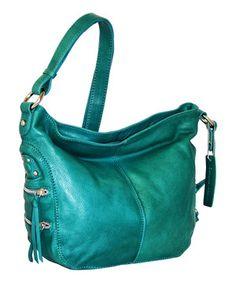 Take a look at this Petrol California Crossbody Bag by Nino Bossi Handbags  on  zulily 7b6f210b5c394