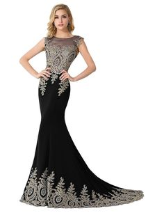 f7896c3567 Amazon.com  MisShow Women s Lace Embroidery Maxi Mermaid Formal Evening  Prom Dresses  Clothing