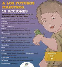 16 acciones que no deberían faltar en nuestras clases. http://www.elblogdemanuvelasco.com/2014/11/a-los-futuros-maestros-16-acciones-que.html?m=0… #Educación