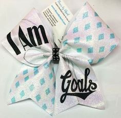Bows by April - Bow of the Week! - I Am Goals Glitter Cheer Bow, $10.00 (http://www.bowsbyapril.com/bow-of-the-week-i-am-goals-glitter-cheer-bow/)